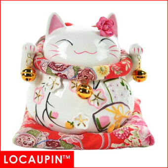 Harga (6 inches-B) LOCAUPIN Chinese New Year Home Decor Christmas Gifts Fortune Lucky Cat
