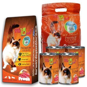 Harga McBeal Adult Dry Cat Food 1.5kg + 4 cans 400g McBeal Can Wet Food + 5L Cat litter