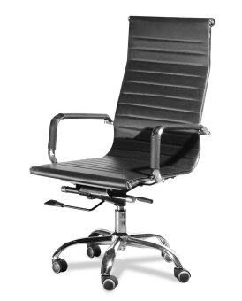 Harga LAVIN HIGHBACK PU OFFICE CHAIR (BLACK)