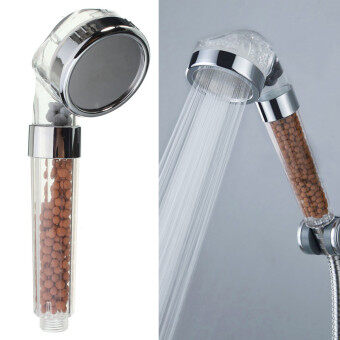 Harga 2pcs Bathroom Booster SPA Anion Water-saving Handheld Rain Shower Spray Head Nozzle