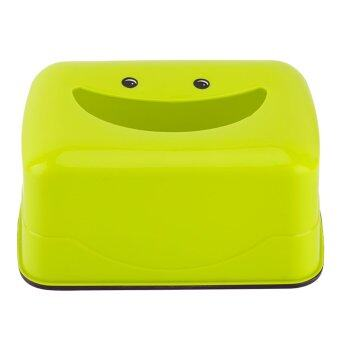 Harga Plastic Tissue Case Pumping Paper Holder Paper Box(Green)