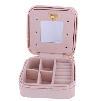 Harga MagiDeal Portable Travel Jewellery Box Jewellery Case Storage Gift Pink