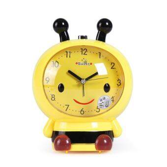Harga Cartoon Bee Model Table Clocks Mute Despertador with Light Speaker Bees for Children Alarm Clock