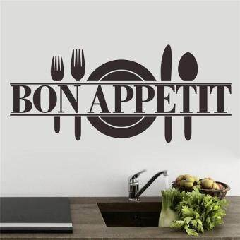 Harga creative bon appetit kitchen wall sticker home decor mural art posters vinyl decals