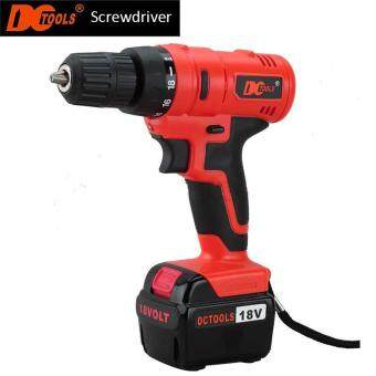 Harga DCTOOLS 18V Electric Power Tool Drill DC-D017 18V Rechargeable And Cordless Driller