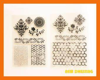 Harga Mesh Background Clear Stamp Type 1