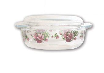 Harga Giacomo 3.5L Decorated Oval Casserole (Rose Delight)