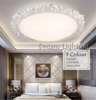 Harga 3 Colour LED 24w Best Seller Round Classic Cozy Creative Living Room Bedroom Fixtures 54cm (3Colour)