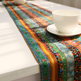 Harga High Quality 1x D:30*220 Pastoral national wind retro cotton Coffee table flag
