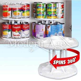 Harga Modern Age Drinks Can Tamer 2 Tier Spinning Carousel Cans Storage & Organizer