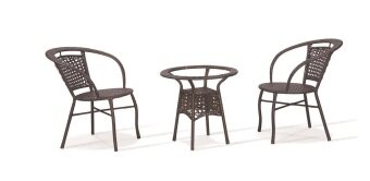Harga Lavin GS 8124 Rattan Outdoor Set (Brown)