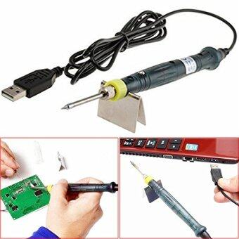 Harga Hot Portable Electronic Tools USB Power Soldering Iron Long Life Tip + Touch Switch Protective Cap DC DIY Soldering Jobs 5V 8W with Stand Tool Kit