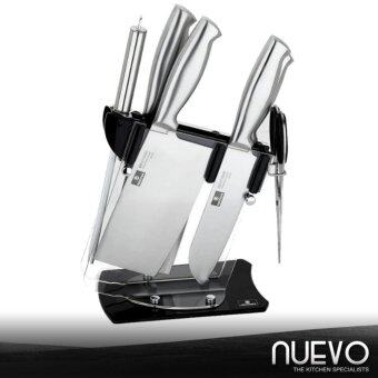 Harga Nuevo Luxury Stainless Steel Kitchen Knife 7-Piece Set (Silver)