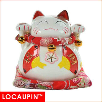 Harga (6 inches-A) LOCAUPIN Chinese New Year Home Decor Christmas Gifts Fortune Lucky Cat