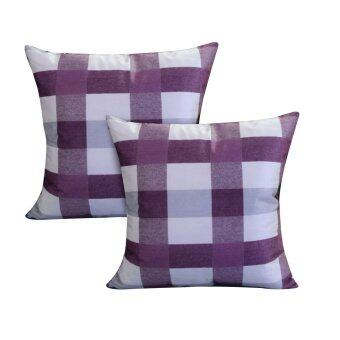 Harga Essina Venin Purple 43x43 Cushion Cover + Infill 2pcs Set