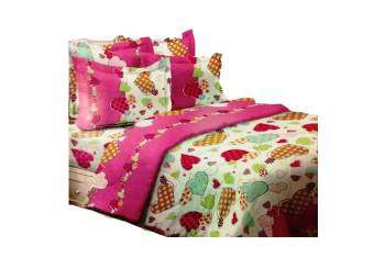 Harga Essina King Fitted Bedsheet Set (Love)