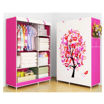 Harga Modern One-Piece Roll Up Curtain Clothes HARMONY Tree Pink Wardrobe - Lucky Pink Tree
