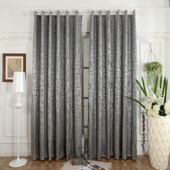 Harga 1 pcs 150x270 Luxury design kitchen door curtains bedroom drape semi-blackout window blinds for balcony grey