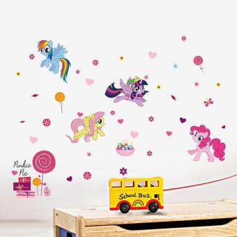 Harga Yika Cartoon My Little Pony Kids Room Art PVC decoration Wall Stickers Wall Decals