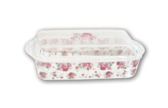 Harga Giacomo 3L Decorated Rectangular Casserole (Majestic Rose)
