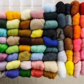 Harga Broadfashion 36Colors/Set Mixed Colors Wool Fibre Roving for Needle Felting DIY Craft