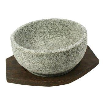 Harga Traditional Korean Stone Bowl with Tray - 16cm
