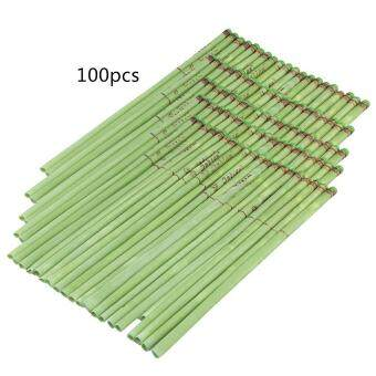 Harga Sweet Natural Ear Candle DIY Fragrant Candling Therapy Healthy Ear Care (100pcs Tea Fragrance-Green)