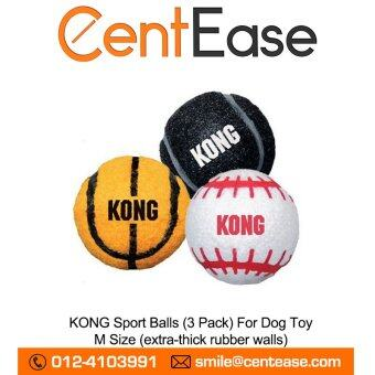 Harga KONG Sport Balls (3 Pack) For Dog Toy - M Size (extra-thick rubber walls)