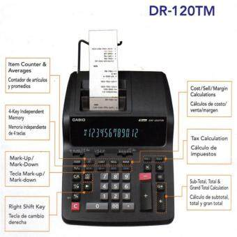 Harga Casio DR-120TM Printing Calculator
