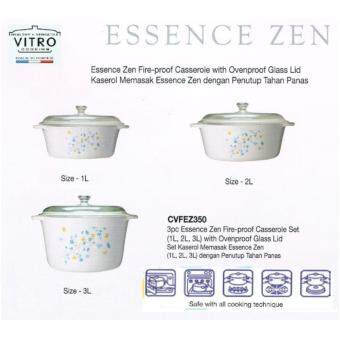 Harga Luminarc Essence Zen Vitro Set of 1L, 2L, 3L (White)