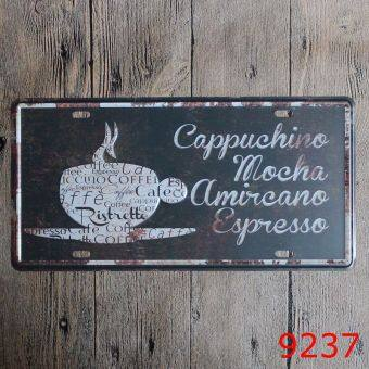 Harga Vintage Tin Signs Metal Poster Metal Board Coffee Shop Wall Decoration Metal Plate 30X15cm