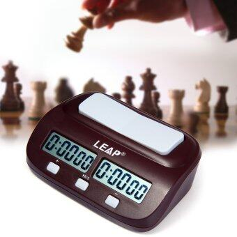 Harga LEAP PQ9907 Digital Chess Clock I-go Count Up Down Timer for Game Competition(Wine Red)