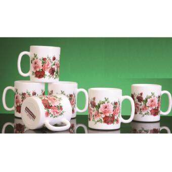 Harga Giacomo 320ml Decorated Mug (Rose Delight) - 6pc