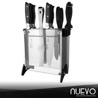 Harga Nuevo Luxury Stainless Steel Kitchen Knife 8-Piece Set (Silver)