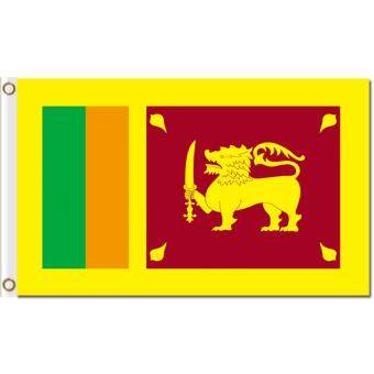 Harga High quality world flags Sri Lanka 3x5ft polyester national banners