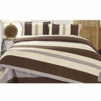 Harga Buy One get One Free! Velvet-Cotton Quilt Cover & Bed Sheet Queen Set (Muji)