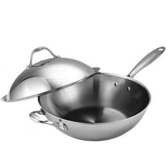 Harga GPL/ Cooks Standard Multi-Ply Clad Stainless-Steel 13-Inch Wok with Dome Lid/ship from USA