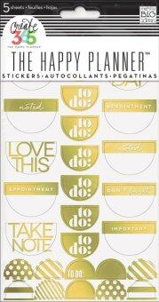 Harga Take Note Gold Foil -create 365 Stickers
