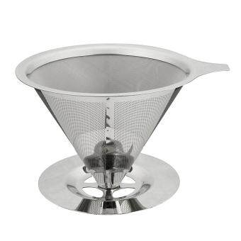 Harga Stainless Steel Pour Over Cone Coffee Dripper Double Layer Mesh Filter Paperless Home Kitchen Coffee Shop Coffee Brewing Helper