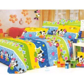 Harga Matahari Single Fitted Bedsheet Set 100% Cotton -Micky Mouse (HOMEMADE)