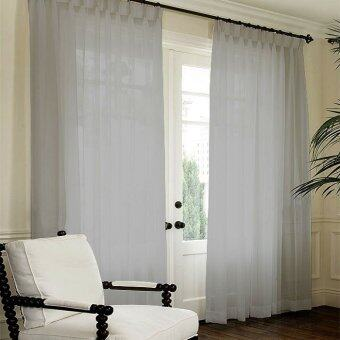 Harga Essina French Pleated Curtain Sheer 1 Layer Lacey Grey