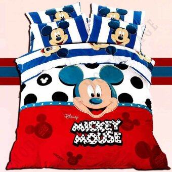 Harga Modern Age (M4) Mickey Design Fitted Bedsheet With Quilt Cover