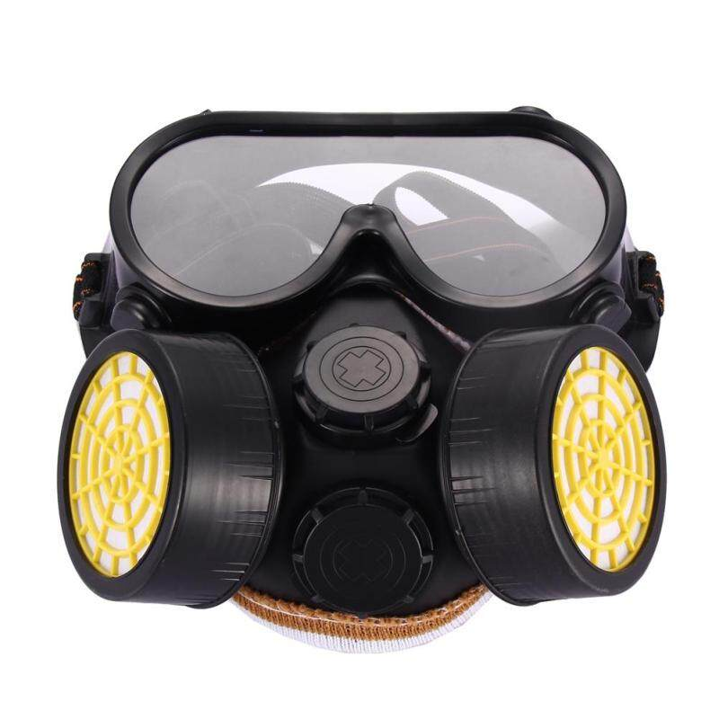 Buy Industrial Gas Chemical Anti-Dust Paint Respirator Mask Glasses Goggles Set Malaysia