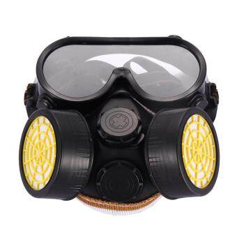 Harga Industrial Gas Chemical Anti-Dust Paint Respirator Mask GlassesGoggles Set