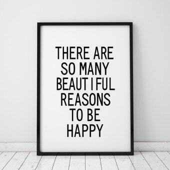 Harga Inspiration Life Quote Wall Art Print Poster, Wall Pictures ForHome Decoration, Frame Not Include Canvas Art FA40