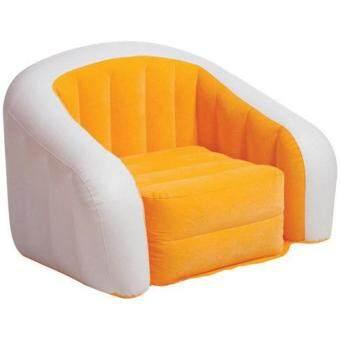 inflatable lounge furniture. intex inflatable gaming camping lounge chair sofa seat orange furniture