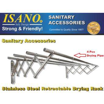 ISANO 2.0Meter with 4 Rods Solid Stainless Steel Premium Retractable Clothes Drying Rack SET 1446DR GUARANTEE NOT RUSTY