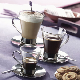 Harga Italy bormioli latte cup coffee cup Glass glass coffee cuptransparent coffee cup hot drink cup