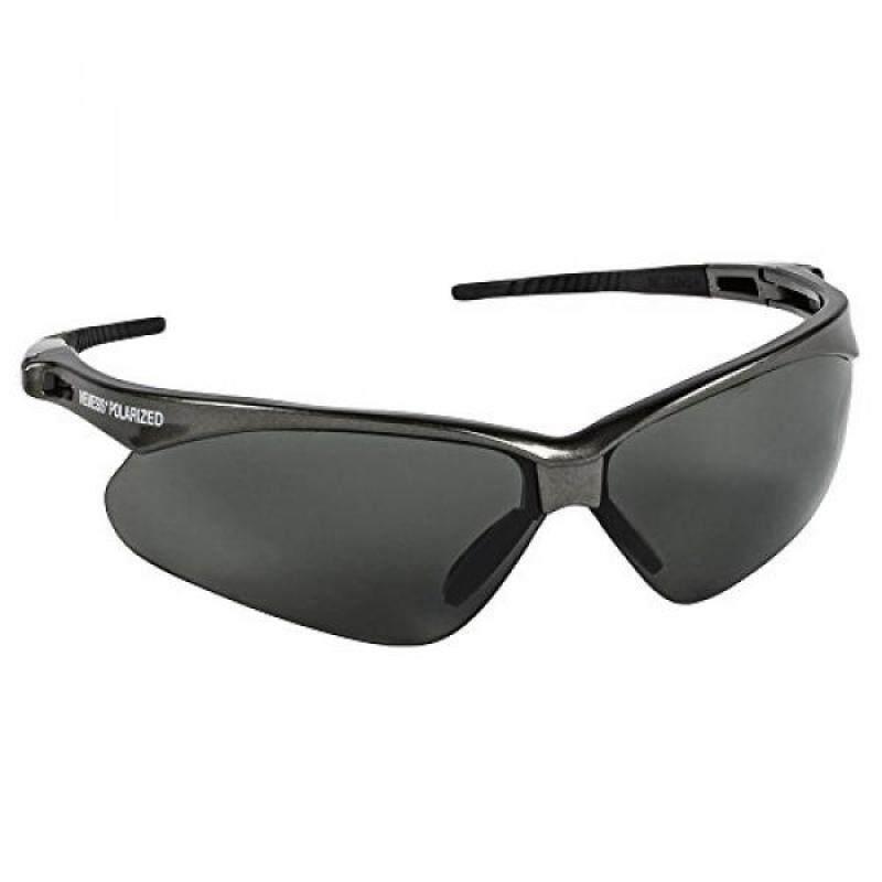 Jackson Safety V30 Nemesis Polarized Safety Glasses (28635), Polarized Smoke Lenses, metal Frame