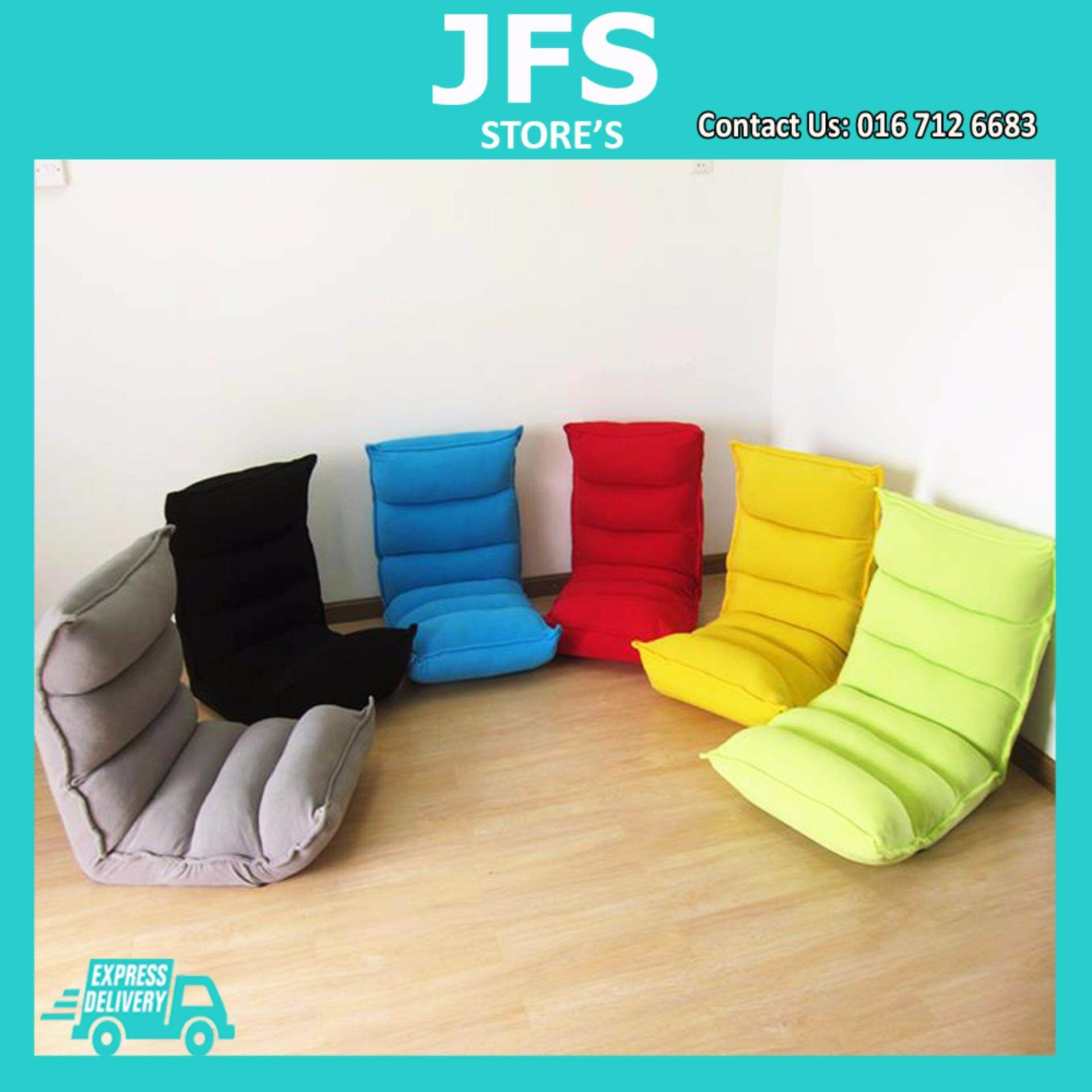 Jfs Japanese Style 3 Points Foldable Sofa Futon Memory Foam Black Malaysia